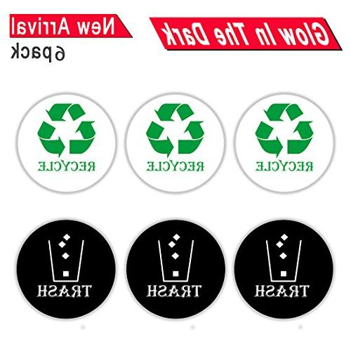 round recycle trash sticker sign