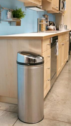 iTouchless Touchless Trash Can : 13 Gallon Round