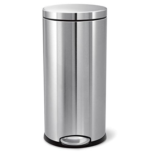 round trash can