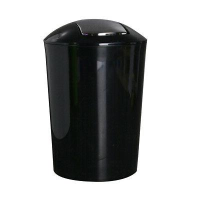 Round Trash Can Plastic Rocking For Room Bathroom