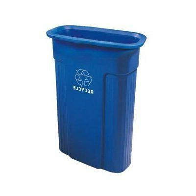 Rubbermaid Commercial Silhouette Designer Wastebasket, Recta