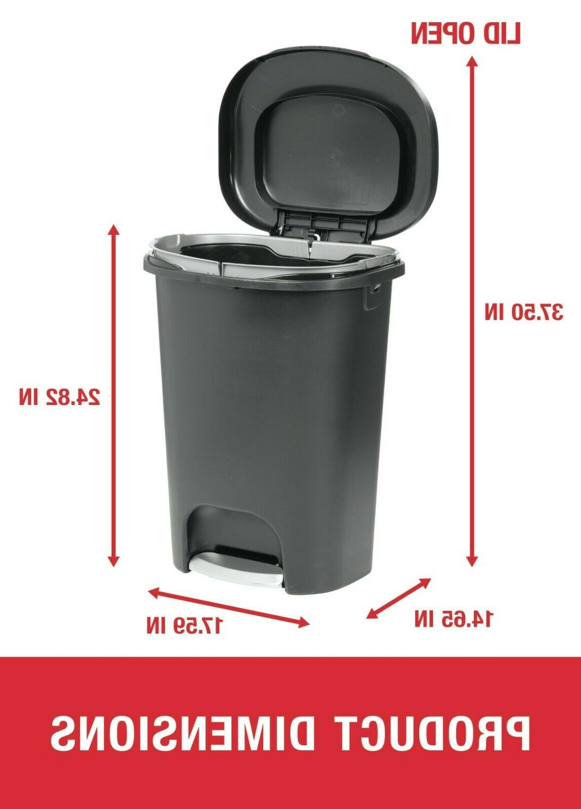 Rubbermaid Step-On Can for Home,Kitchen,Bathroom Gallon