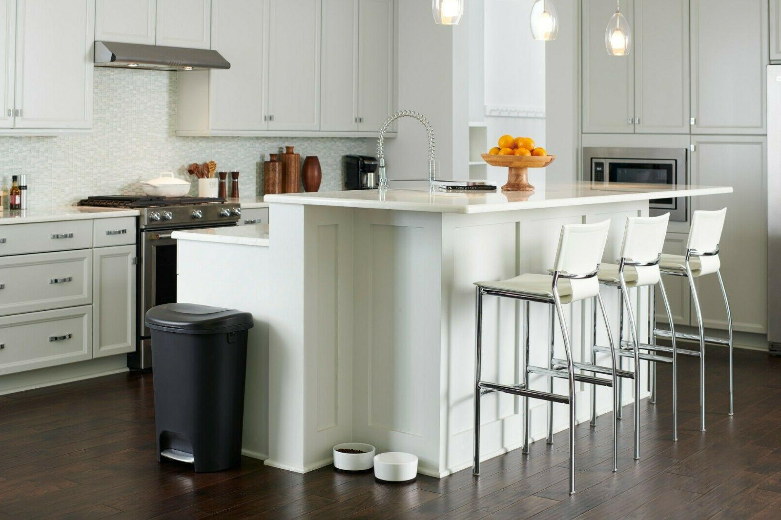 Rubbermaid Step-On Trash Can for Home,Kitchen,Bathroom Gallon