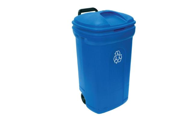 United Solutions Outdoor Trash Can Wheeled Recycling Bin 34