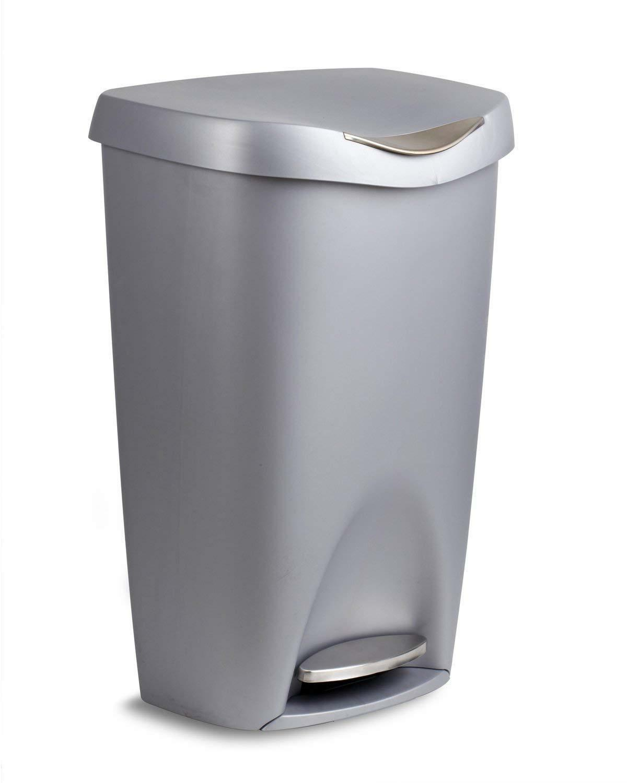 satin finish silver color kitchen garbage trash