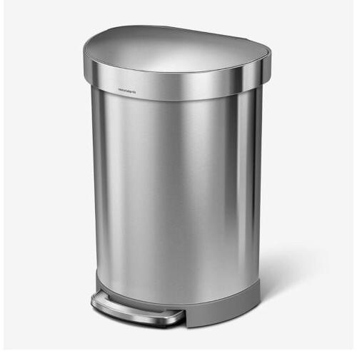 semi round trash can