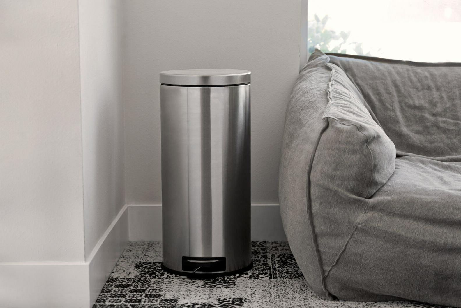 Silver Step On Bin Garbage Bag