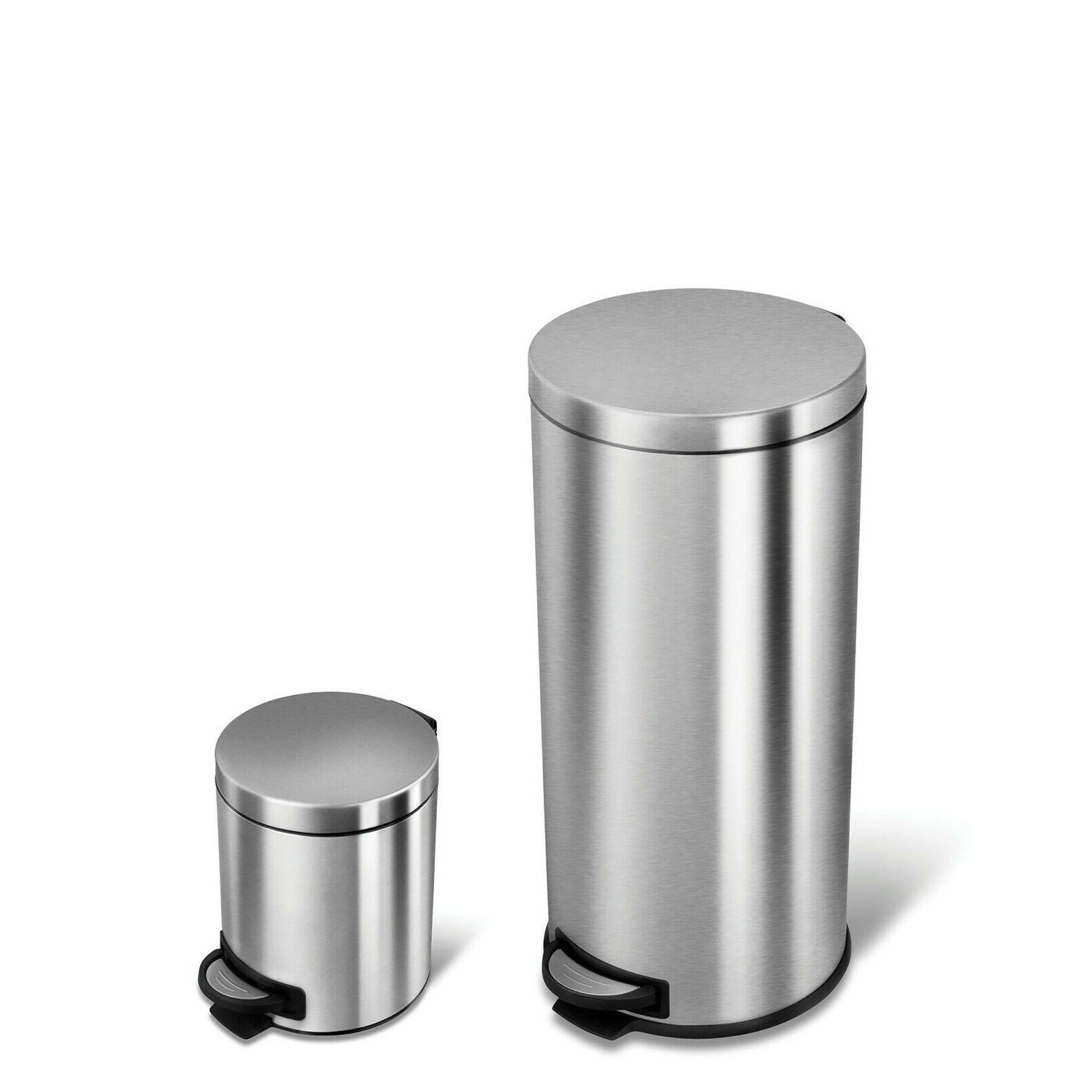 silver 30l 5l stainless steel step on
