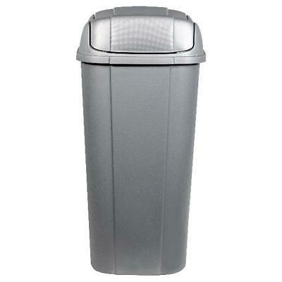 Silver Pivot-Lid 13.3-Gallon Storage
