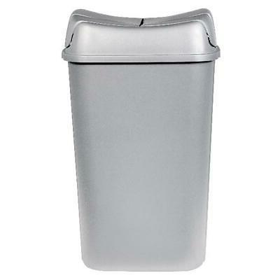 Silver Pivot-Lid Storage Bin