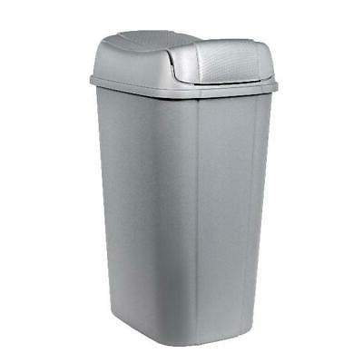 Silver W/ Pivot-Lid 13.3-Gallon Kitchen Garbage