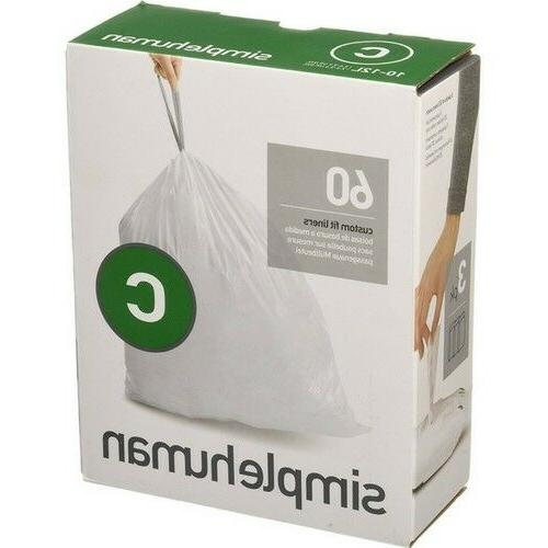 Simple Human Trash Bags Fit Can - 12L Garbage