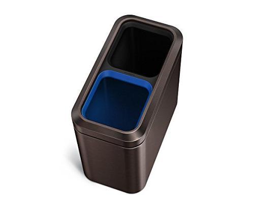 simplehuman 20 Liter/5.3 Gallon Dual Compartment Step, Dark