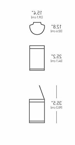 simplehuman / 12 Gallon Semi-Round Plastic Lid, Steel