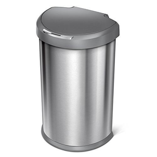 simplehuman 45 Liter / 12 Gallon Stainless Steel Semi-Round