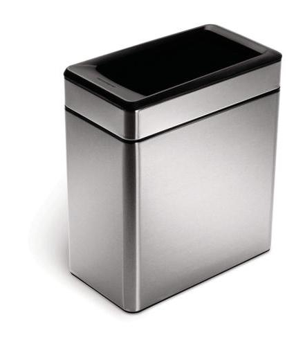 simplehuman profile open trash can 10 l