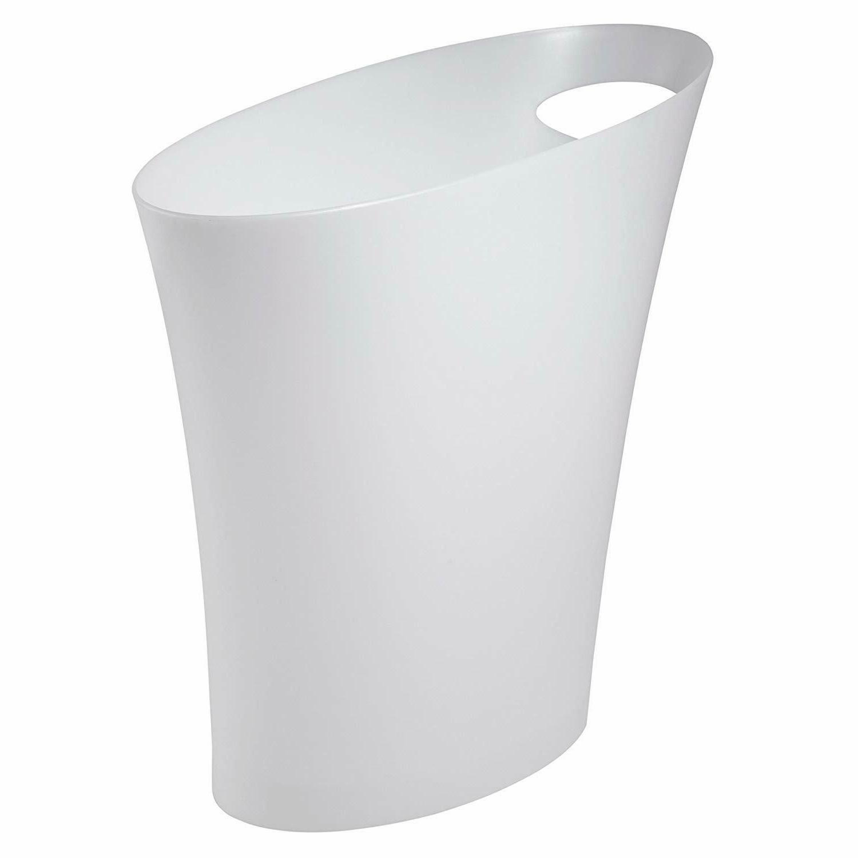skinny sleek stylish bathroom trash can small