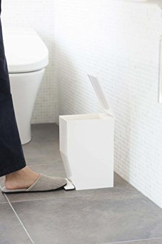 Small Sleek Sanitary Can Pedal, Rubbish Bin Disposal, for Office Toilet,