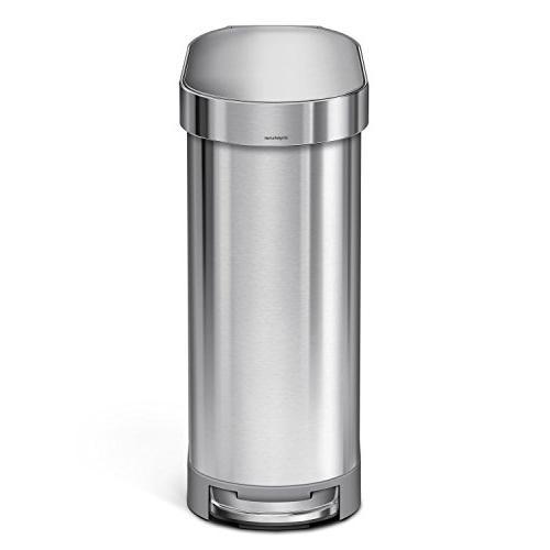simplehuman Slim Step Brushed Steel, 45 Liter / 12