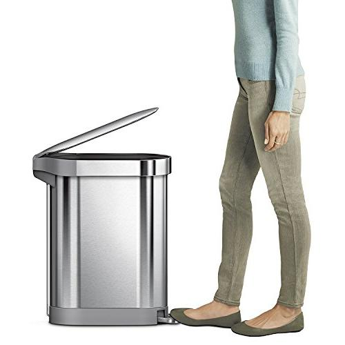 simplehuman Brushed Stainless 45 Liter Gallon
