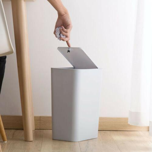 Trash Can Garbage Rubbish Bin Office S/L Touch Home