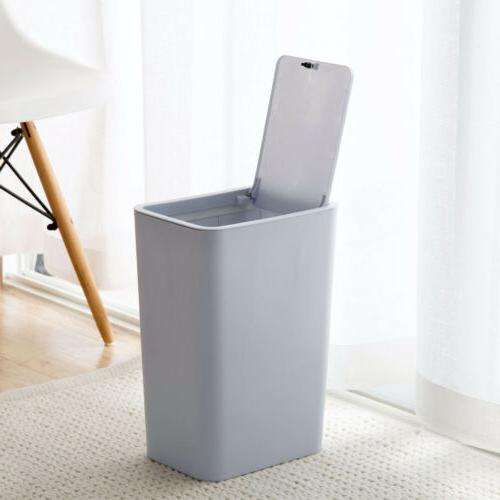 Trash Can Garbage Bin Office Wastebasket S/L Touch Home