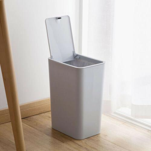 Trash Can Bin Wastebasket S/L Touch Lid Home