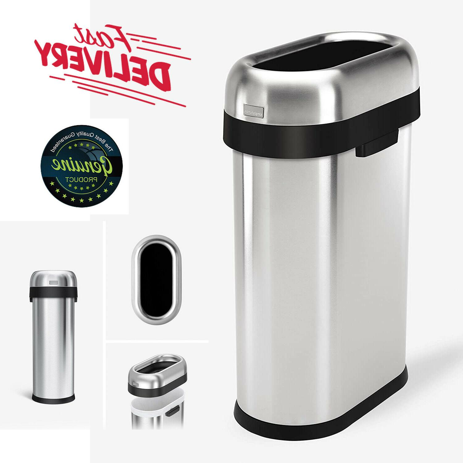 slim open can stainless steel