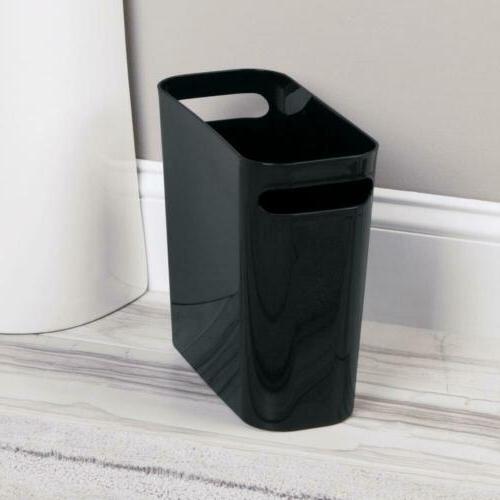 mDesign Slim Small Trash Can Wastebasket, Garbage...