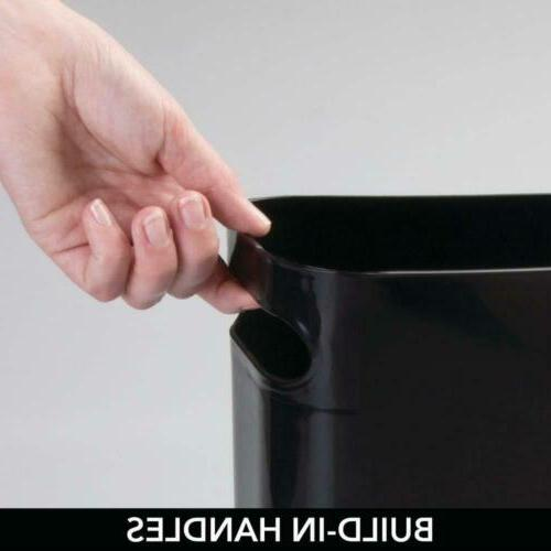 mDesign Slim Plastic Rectangular Small Trash Garbage...