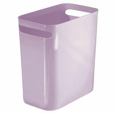 "mDesign Slim Plastic Trash Can Garbage Wastebasket, 12"" High"