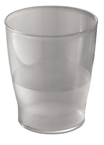 slim round plastic trash can