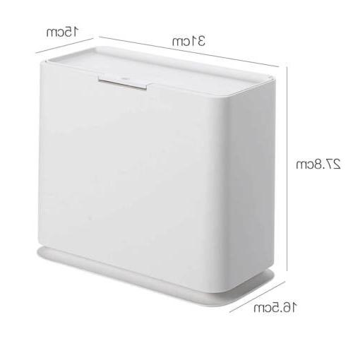 Slim Can Garbage Rubbish Bin Touch Bathroom Toilet Home