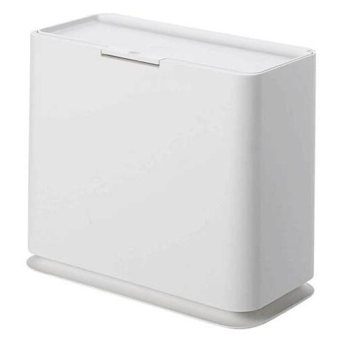 Slim Can Garbage Rubbish Wastebasket Touch Lid Bathroom Home