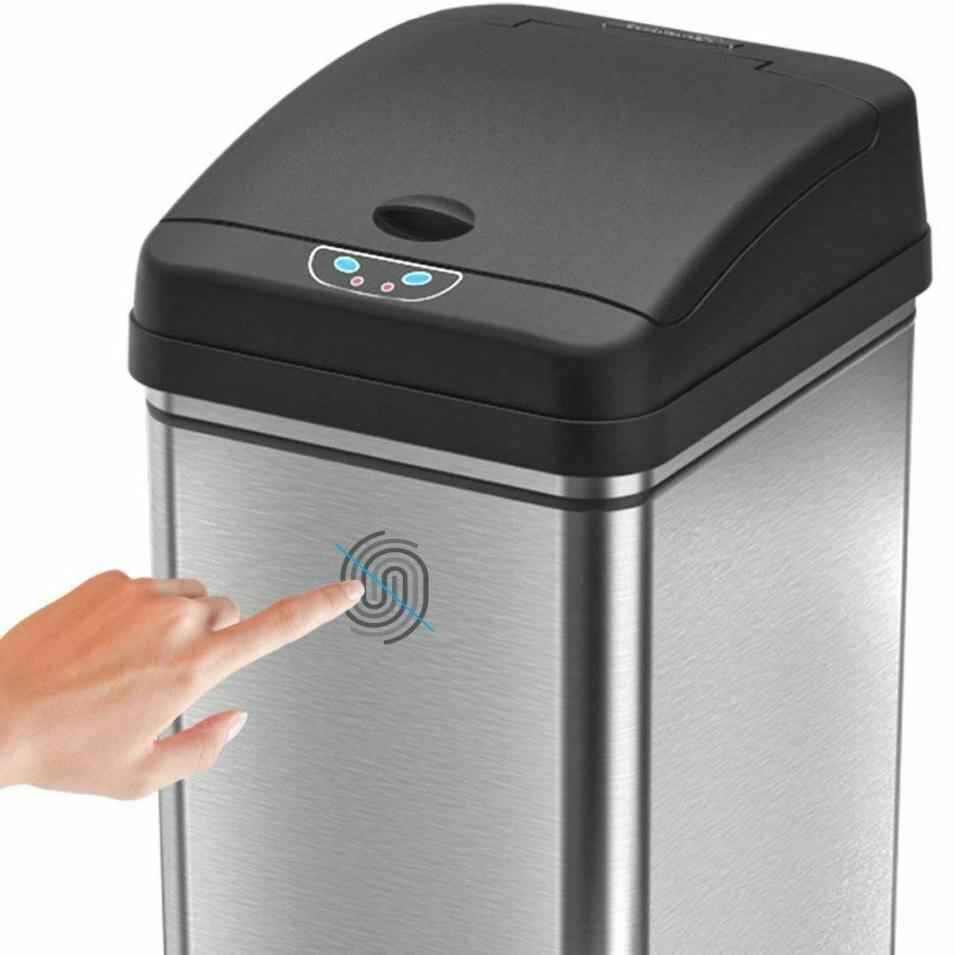 Small Automatic Touchless Garbage Bin Stainless
