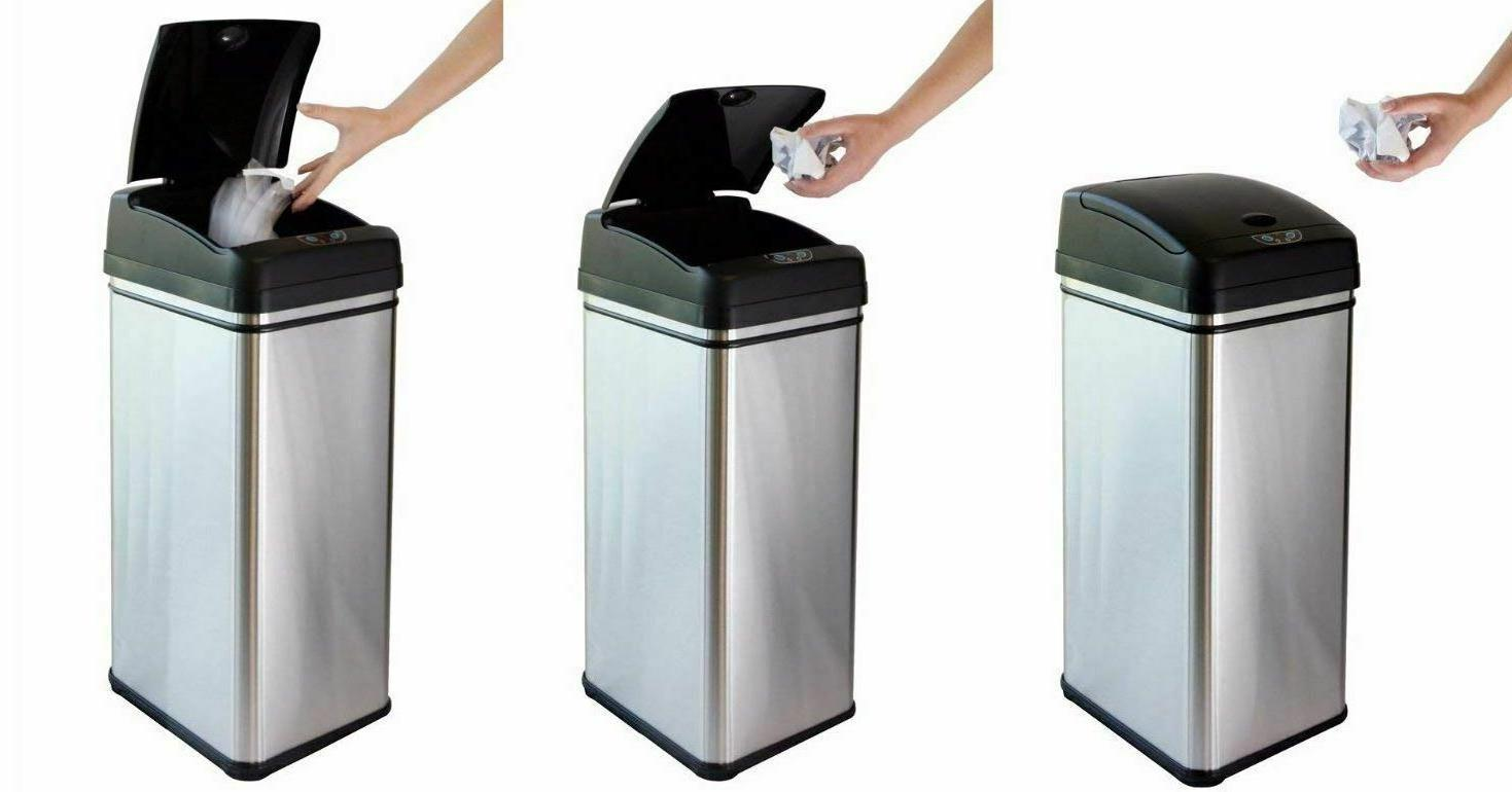 Small Automatic Trash Touchless Garbage Bin Steel