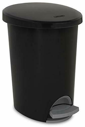 small bathroom trash can lid step on