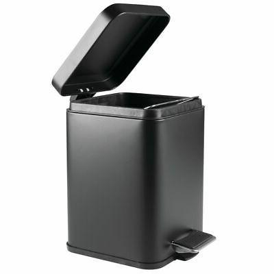 mDesign Trash Can Bin, Removable