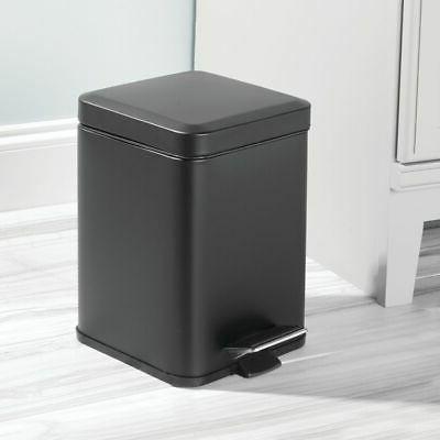 mDesign Square Trash Can Garbage Removable Liner, 6L