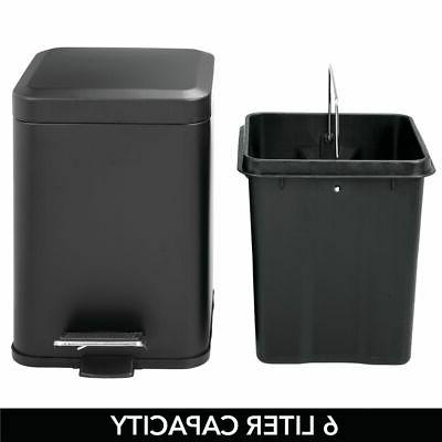 mDesign Small Trash Can Removable Liner, 6L