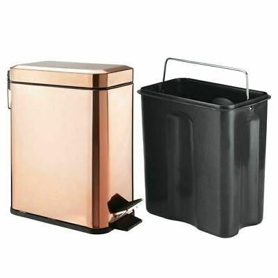 mDesign Trash 1.3 Gallon Bin, Removable Liner