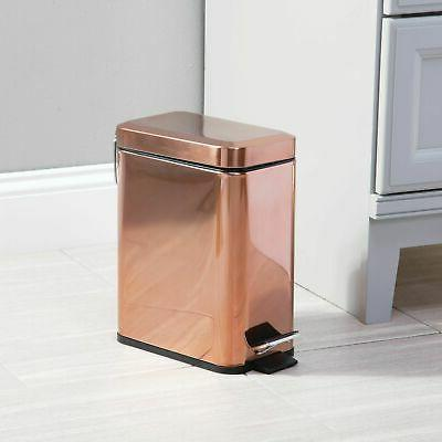 mDesign Trash 1.3 Gallon Garbage Removable