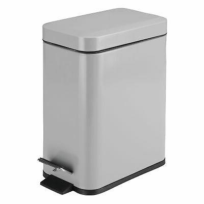 mDesign Small Can, Garbage Bin, Liner