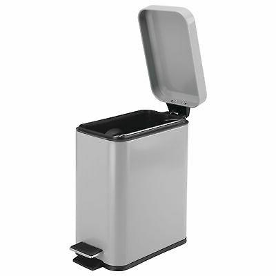 mDesign Small Trash Can, Garbage Removable Liner Bucket