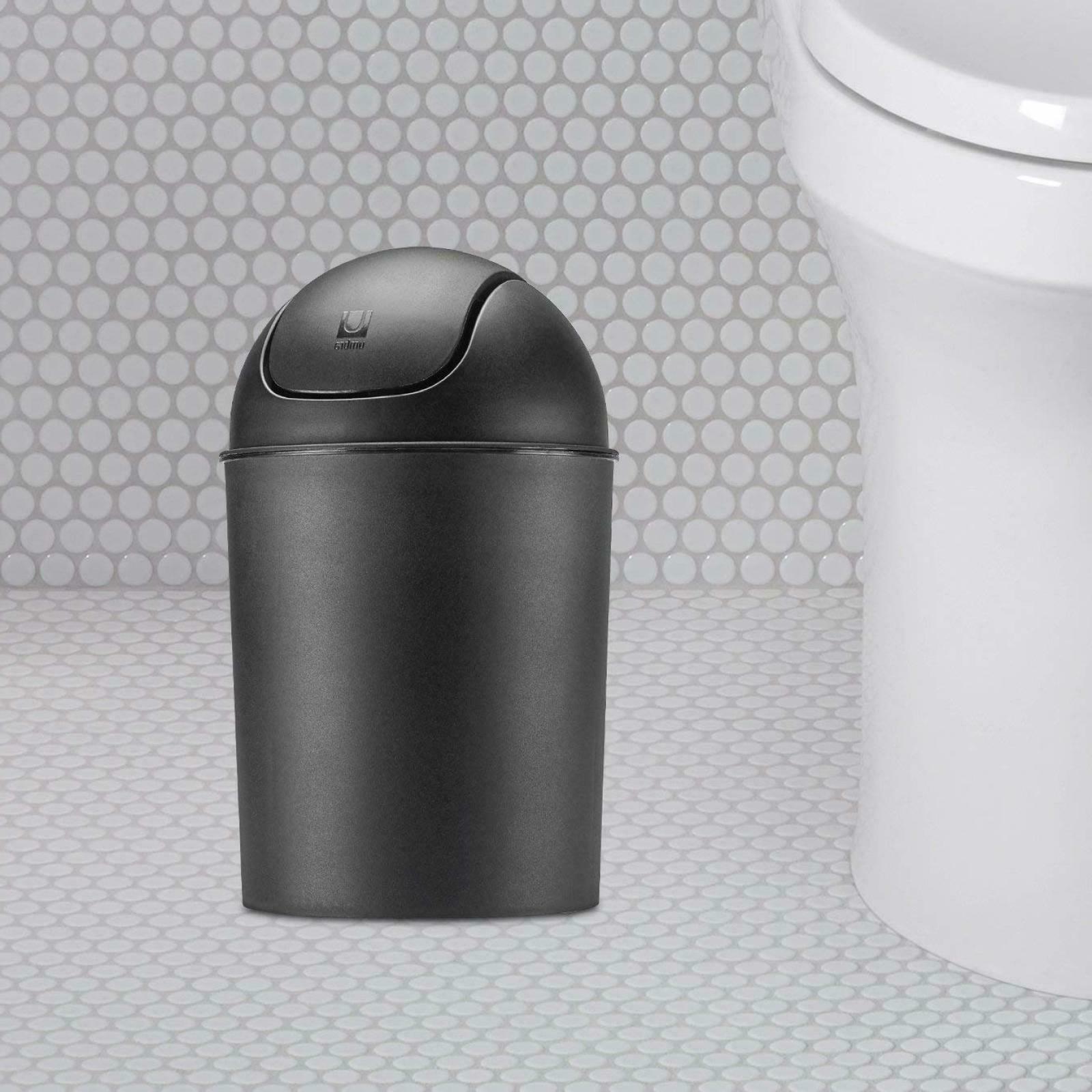 Small Trash Can Swing Waste Basket Bin 1.5 gallon