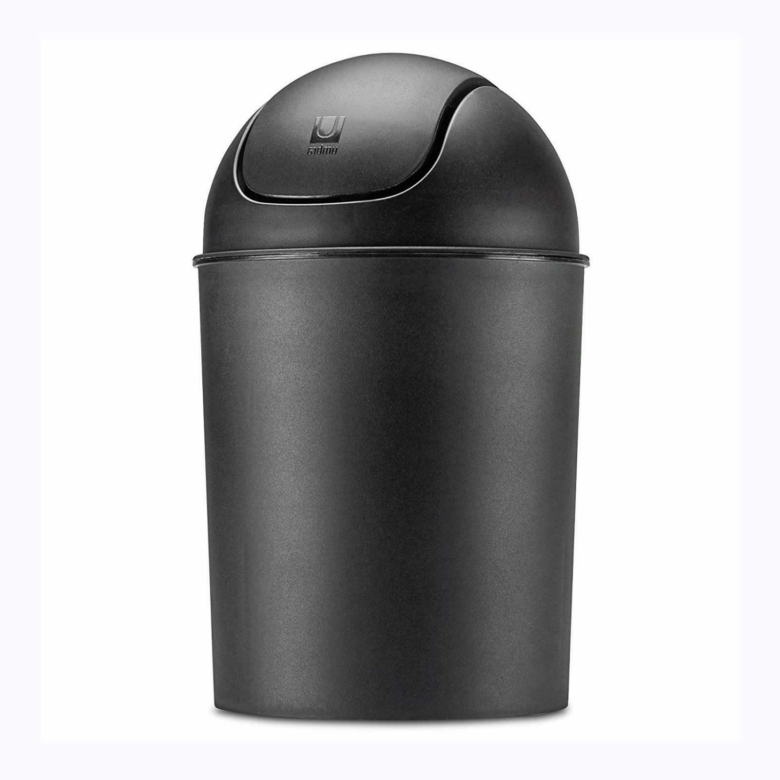 Small Can Lid Waste Basket Bin Matte 1.5 gallon