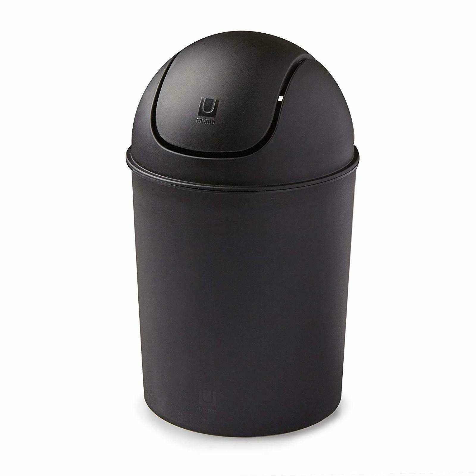 small trash garbage mini can plastic swing
