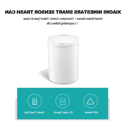 NINESTARS Smart Sensor Trash Can Infrared Touc h-Free Auto G