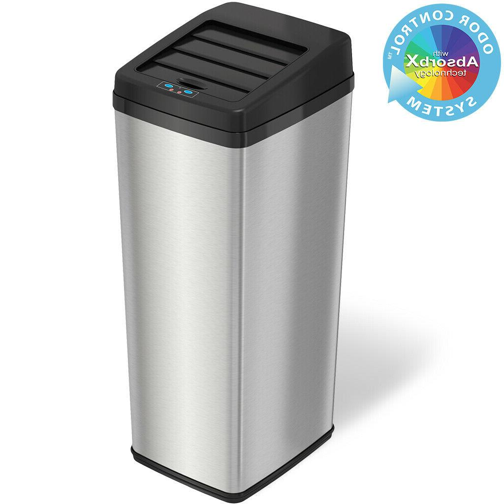 space saving touchless trash can
