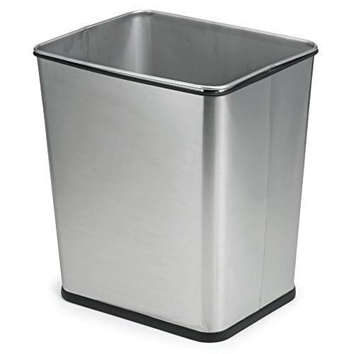 Polder Trash Can, Brushed